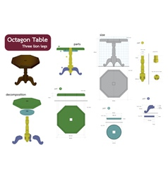 octagon table vector image vector image