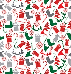 Seamless Christmas Elements Pattern vector image