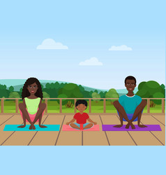 the african american family vector image vector image