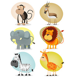 african jungle animals collection vector image
