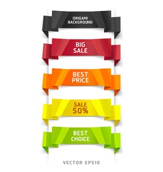 Colorful origami number options banner vector image vector image