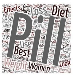 Diet Pills Weight Loss or Cash Lost text vector image vector image