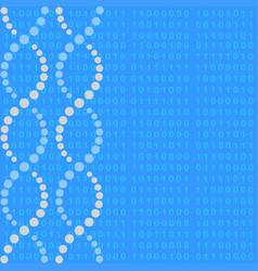 Dna molecule with binary code vector