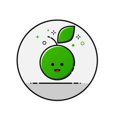 flatl ine apple icon vector image