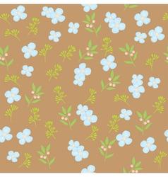 floral pattern brown vector image