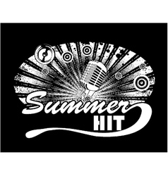 music t-shirt design with microphone vector image vector image