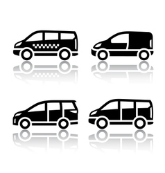Set of transport icons - Cargo van vector image vector image
