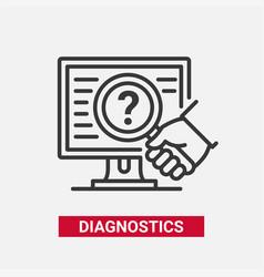 Diagnostics - modern line design single vector
