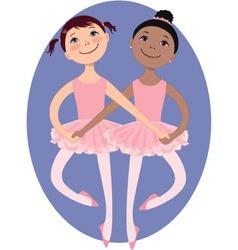 Little ballerinas vector image vector image