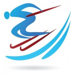 sport silhouette series ski vector image vector image