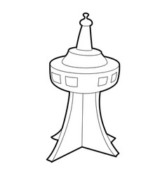 Television tower icon outline style vector