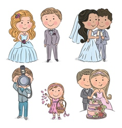 Wedding kids vector image