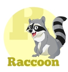 ABC Cartoon Raccoon vector image