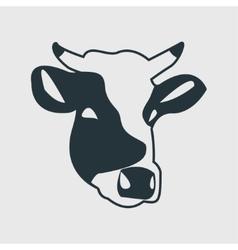 Cow head icon vector