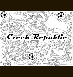 czech republic line art design vector image