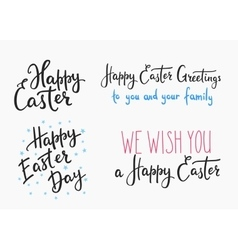 Happy easter day simple lettering vector image