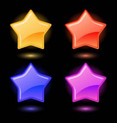 set of glossy stars vector image vector image