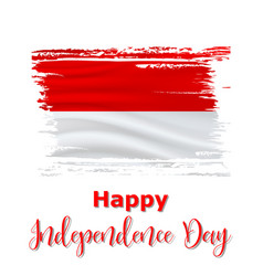17 august indonesia independence day background vector image