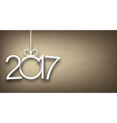 2017 New Year gray background vector image