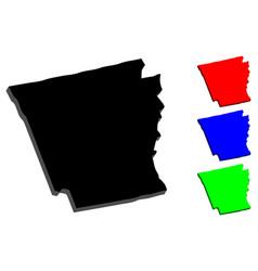 3d map of arkansas vector image