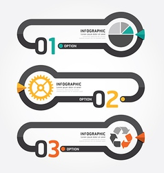 Abstract infographic line template vector