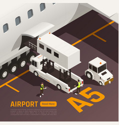 airport baggage loading background vector image