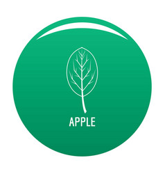 apple leaf icon green vector image