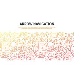arrow navigation concept vector image