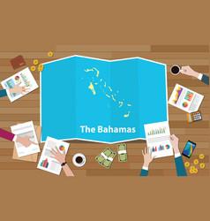 Bahamas economy country growth nation team vector