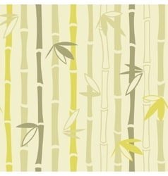 Bamboo ornament seamless pattern vector image vector image
