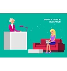 Beauty saloon woman vector