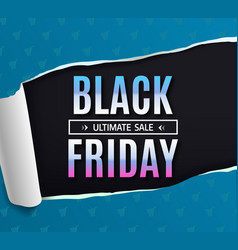 black friday sale banner poster logo black vector image