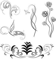 Black patterns isolated vector