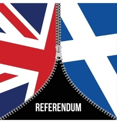 Brexit concept British flag Scottish flag vector image