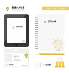bulb business logo tab app diary pvc employee vector image