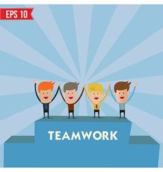 Business man teamwork spirit - - eps10 vector