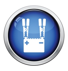 Car battery charge icon vector image