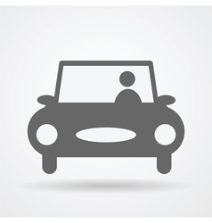 car web icon vector image
