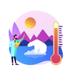 Climate change abstract concept vector