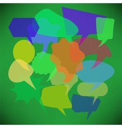 Colorful Transparent Speech Bubbles vector image