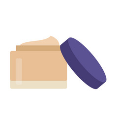 Container makeup tonal foundation icon flat vector