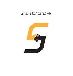 Creative s letter icon abstract logo design vector