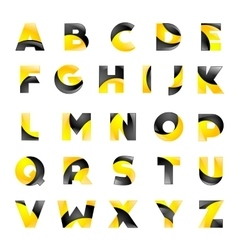 Creative yellow and black font for your vector image