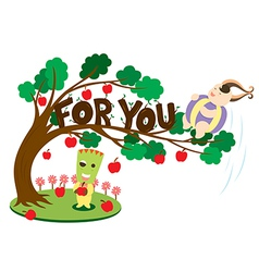 cute cartoon vector image