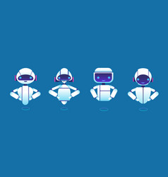 cute chatbots robot assistant chatter bot vector image