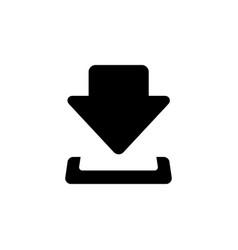 download icon download black icon download icon vector image