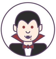 Dracula avatar vamipre in black costume icon vector