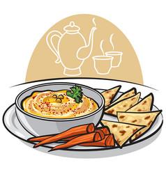 eastern dish humus vector image