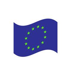 european union waving flag vector image