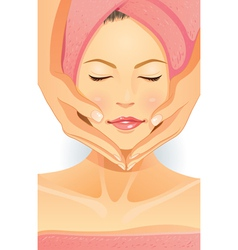 Facial spa vector